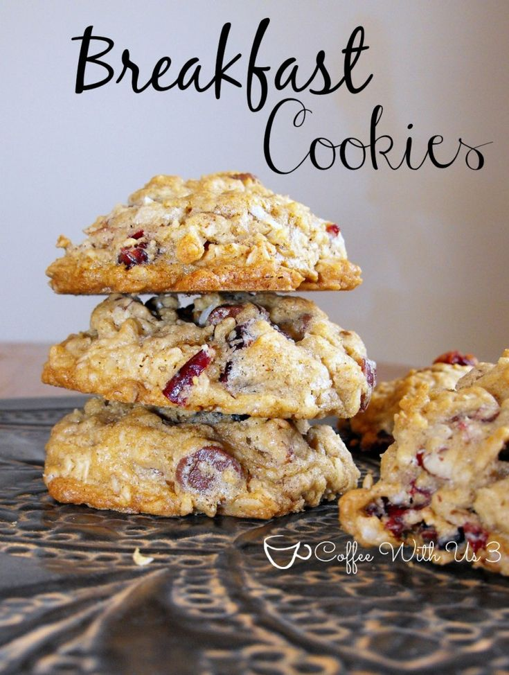 Breakfast Cookies - Craisin, Raisin, Coconut and Chocolate Chips... All in a cookie make for Breakfast!!