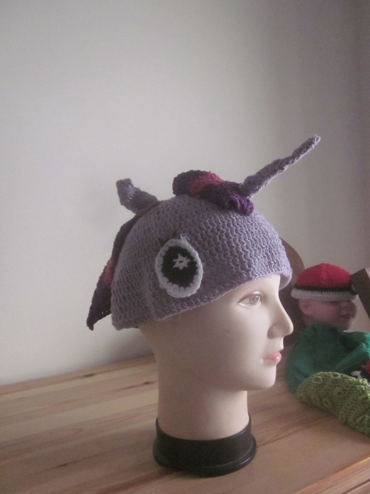 Unicorn hat, soft purple unicorn hat, inspried by twilight sparkle of my little pony by knightwhosaidknit on Etsy #twilight