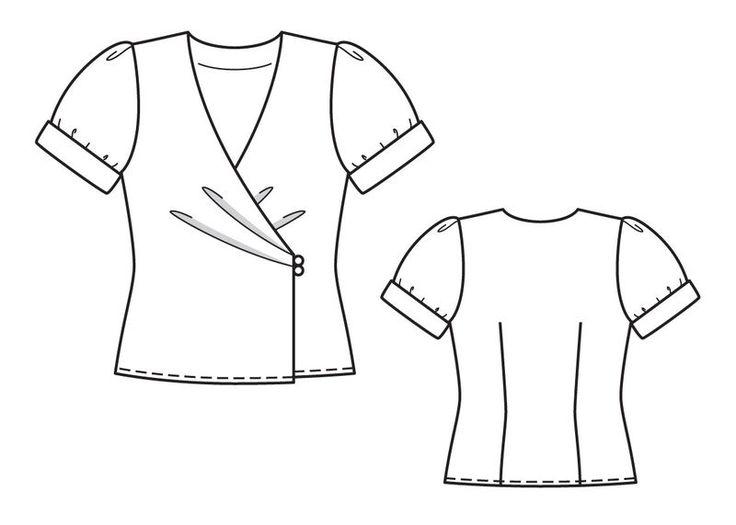 numer wzoru 119 Magazine 4/2013 Burda - - Bluzka wzory na bluzki Burdastyle.ru