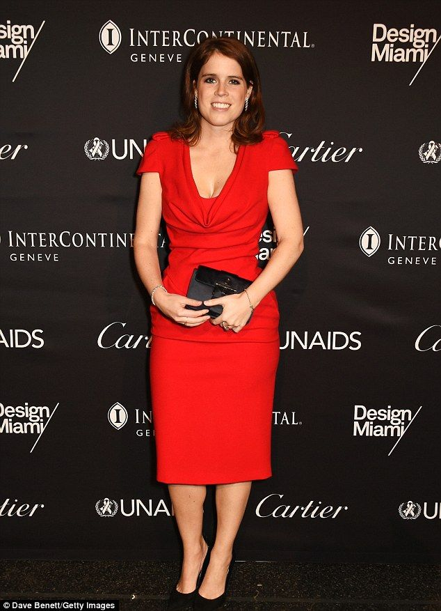 Princess Eugenie of York, who is partial to a jaunt abroad, attended the UNAIDS Gala during Art Basel 2016 at Messe Basel  in Basel, Switzerland, on Monday night, marking her sixth trip abroad in the past 12 months
