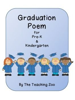 Graduation Handprint Poems for Pre-K and Kindergarten {Freebie!!}There are 2 poems included in this pack.  One is for preschool graduation and the other is for kindergarten graduation.  The third poem is a sample showing where you can place the handprints of your students.