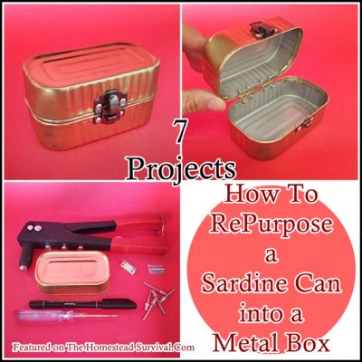 The Homestead Survival | How To RePurpose a Sardine Can into a Metal Box | DIY Project http://thehomesteadsurvival.com