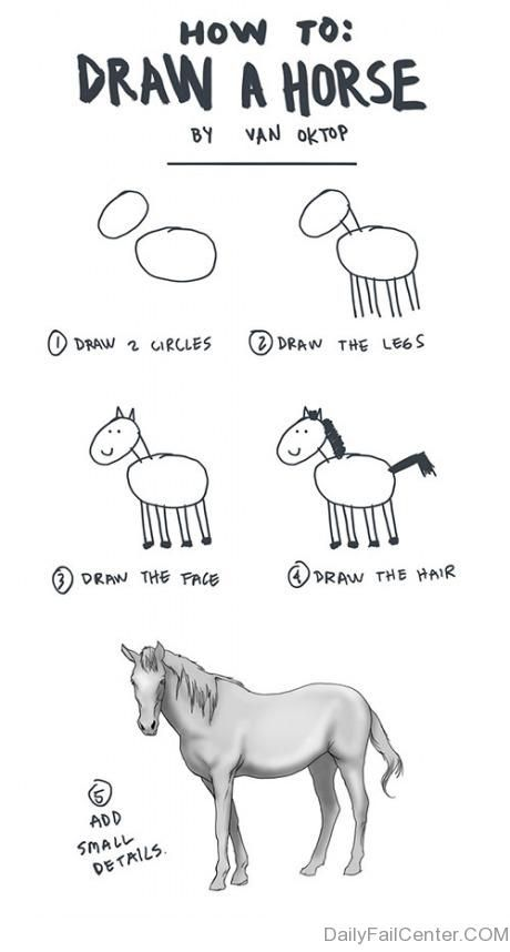 How to draw a horse - stupid drawing books , they never worked!