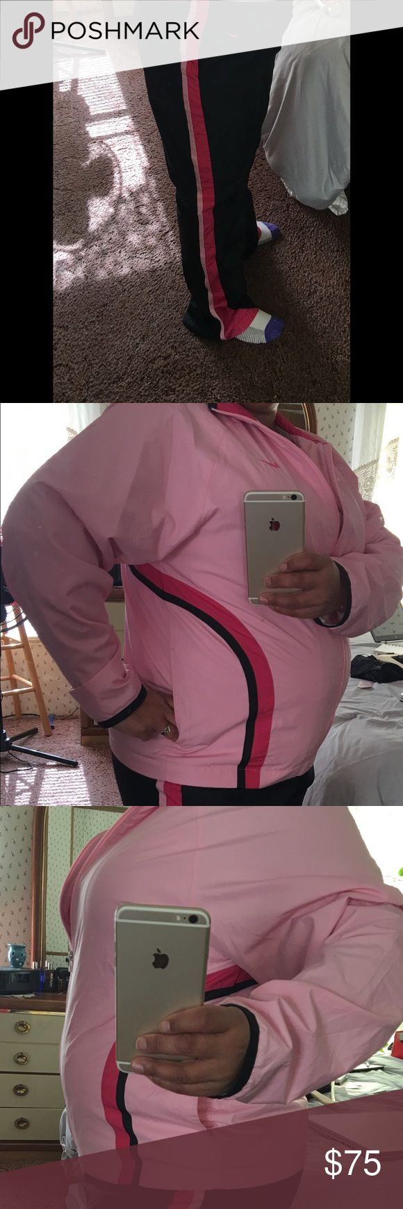 Nike Jogging Suit Bundle 3  PC Nike track suit set. Matching pink top from Christopher and Banks comes with the match Track suit. Worn a few times Nike Other