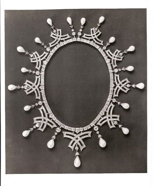 Diamond and Pearl Necklace which belonged to Empress Maria Feodorovna of Russia; convertible to tiara.