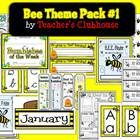 The Bee Theme Pack #1 consists of 23 themed resources including a newsletter template, an open house PowerPoint template, binder covers, certificat...