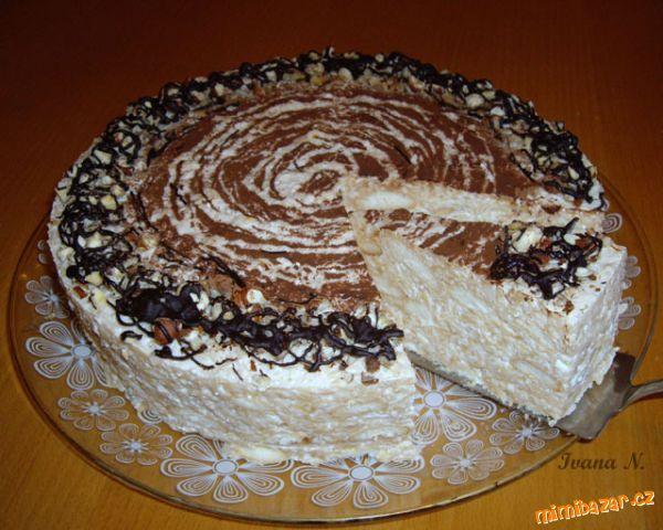 Jablkový dort s tvarohem nepečený