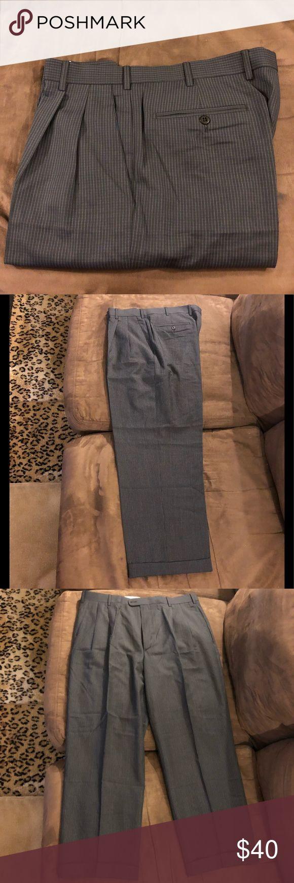 Zanella Navy & Grey Check Plaid Dress Pants 36 Zanella Navy Blue and Grey Check Plaid Dress Pants size 36x28, Pleated and cuffed! Like new!  Please make reasonable offers and bundle! Ask questions :) Zanella Pants Dress