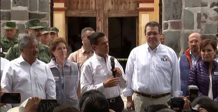 EPN anuncia trabajos de reconstrucción de inmuebles dañados por sismo en Tlaxcala - Noticieros Televisa