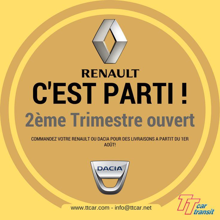 Commandez votre Renault ou Dacia pour Août #ttcar #ttcartransit #expat #expatlife #vacances #été #renault #dacia http://bit.ly/2gx2p2D