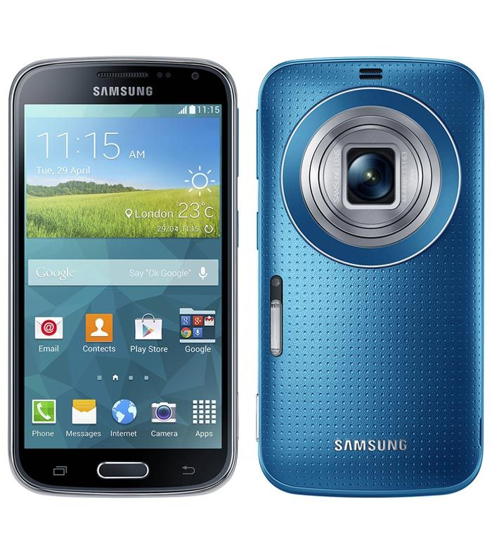 """Samsung Galaxy K zoom smartphone with 4.8"""" 720x1280 display powered by 1.3GHz & 20.7 MP camera.  http://www.ispyprice.com/mobiles/3364-samsung-galaxy-k-zoom-price-list-india/"""