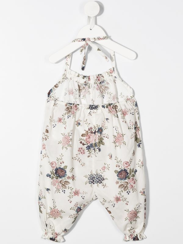 Violeta E Federico رومبر بزهور وحمالة عنق Farfetch Floral Romper Rompers Halter Neck