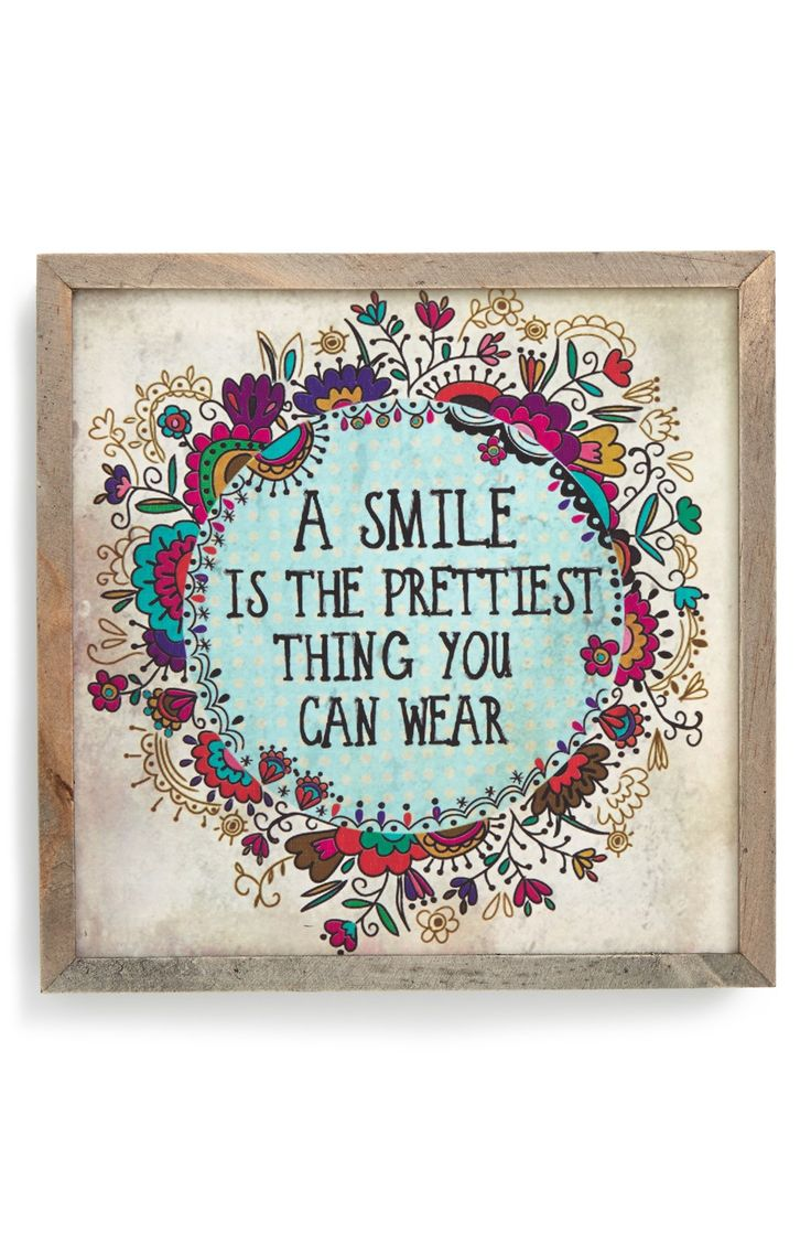 A smile is the prettiest thing you can wear.