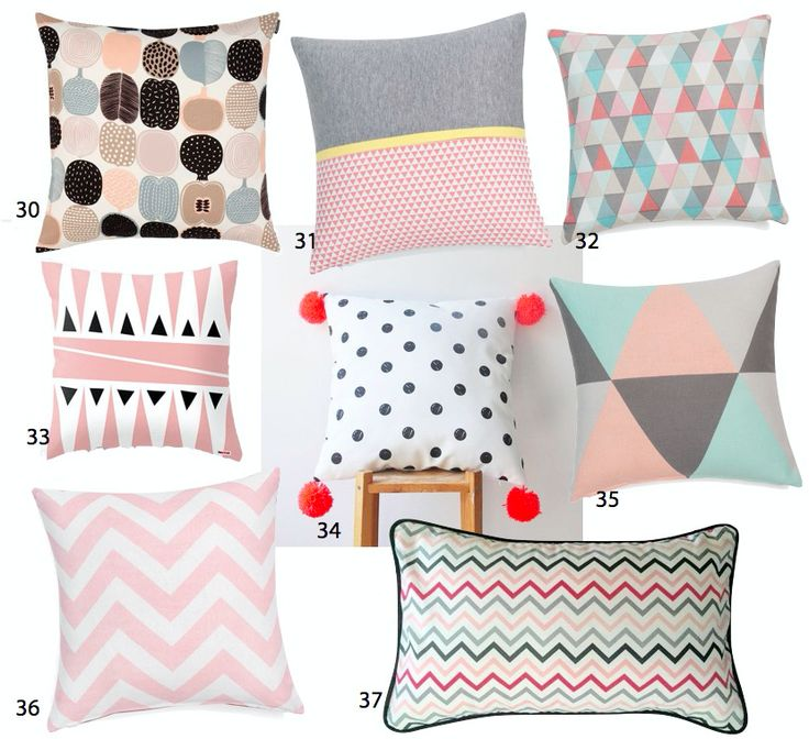 Coussin scandinave d coration salon blog d co pastel inspiration et design - Coussins colores design ...