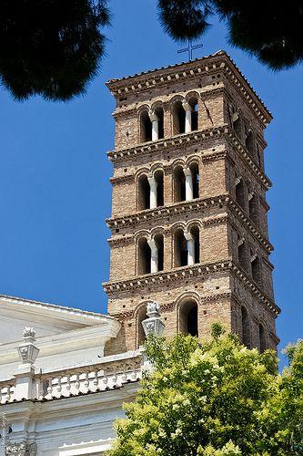Church Tower Santi Giovanni E Paolo, Rome