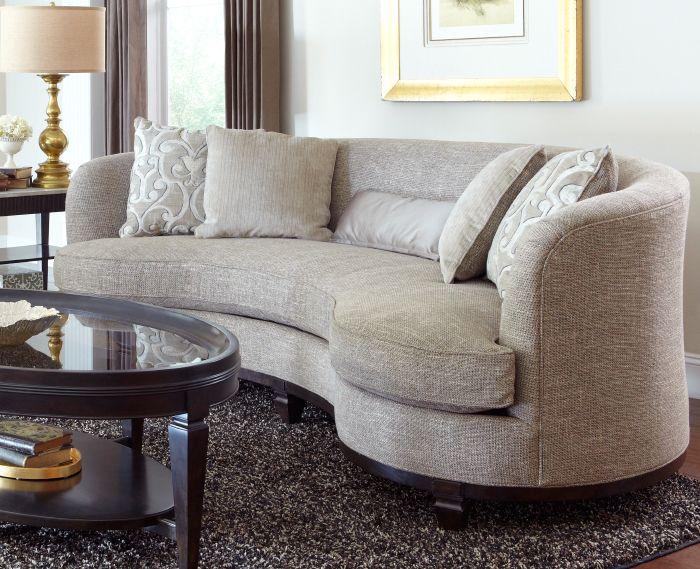 The Blair Sand Sofa A Gorgeous Kidney Shaped Sofa That