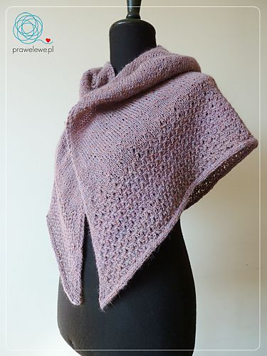 Liselottle Shawl by as a bright plum shawl by Cathliin