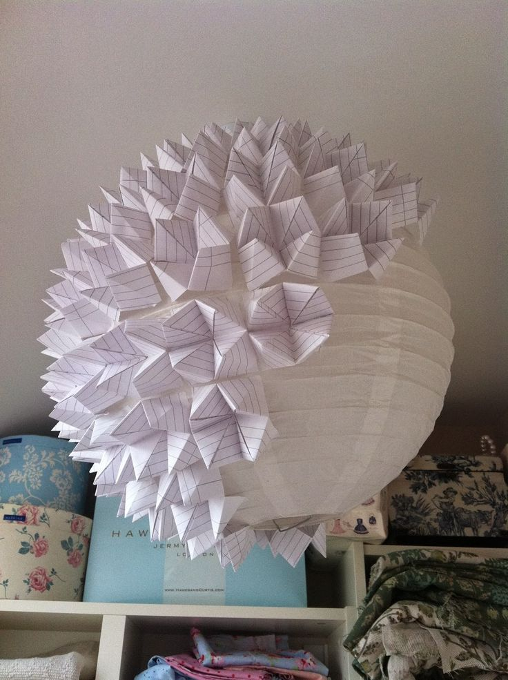 House of Newns: DIY Geometric Origami Lampshade Tutorial