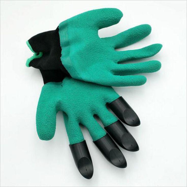 1 Paar Rubber Polyester Bouwers tuin Genie Handschoenen Handschoenen 4 ABS Plastic Klauwen Hoge Kwaliteit Tuin Handschoenen Met Plastic Klauwen