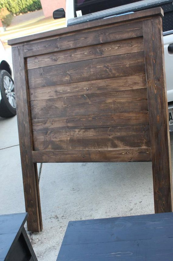 Solid Wood Pallet/ Barwood style Twin by TwitchinWillows on Etsy, $150.00