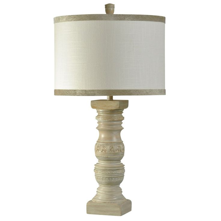 Jane Seymour Hand Carved Traditional Table Lamp In Magellan Finish Drum  Shade With Custom Trim (