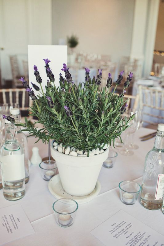 Lavender table centre makes a take-home treat for your mum too #weddingideas
