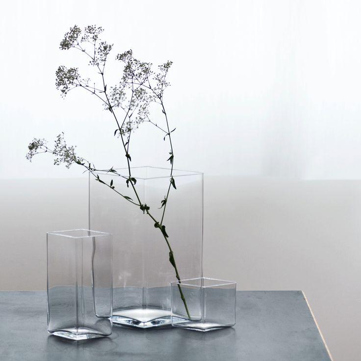 """iittala Ruutu Clear Vase – 10-3/4"""" - iittala Ruutu Vases"""