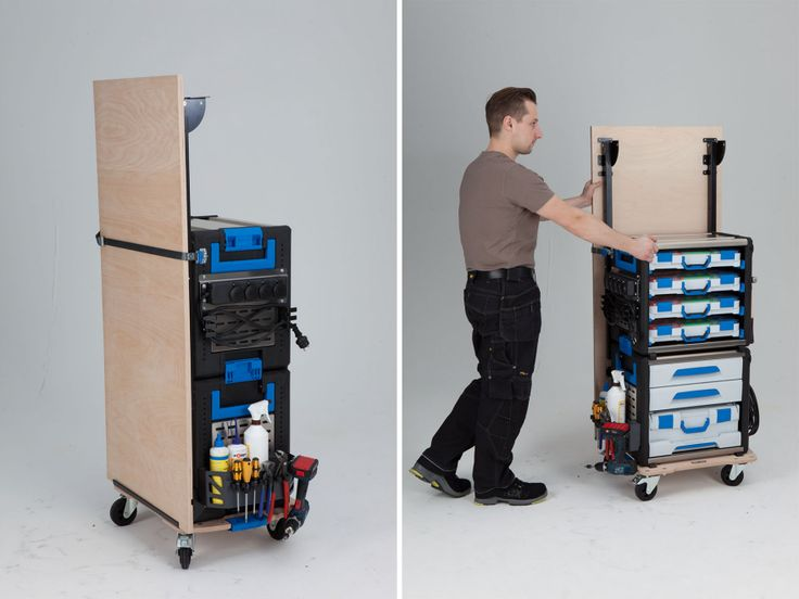 In the post on tool van organization systems, you saw how the traveling craftsperson can transport all of their equipment. But once they arrive on site, they need to set up some sort of station where they can execute the work. Once upon a time a dusty pair of beat-up