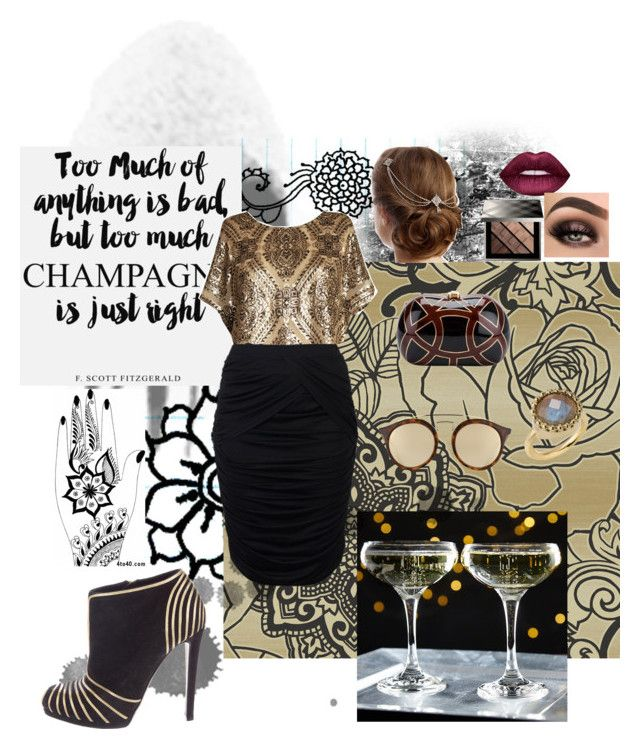 """""""Dames Got Style"""" by fabulous-monsters ❤ liked on Polyvore featuring Today Interiors, Anna Scholz, Ray-Ban, Sergio Rossi, Lime Crime and Burberry"""
