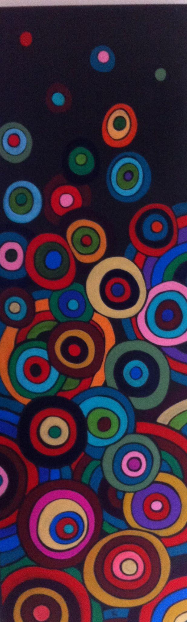 Circles. Acrylic on board 2014 www.calicostudio.org