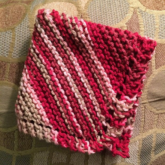 Free Pattern Very Easy Diagonally Knit Dishcloth With ...