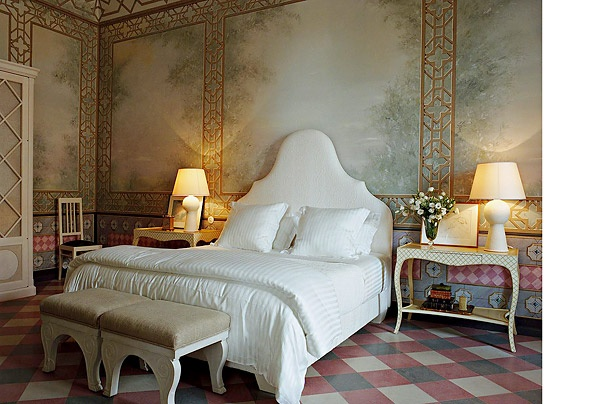 The Sophia Suite in Frances Ford Coppala's Itialian Estate, the Pallazo Mansion
