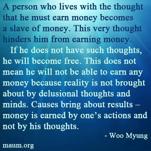 """""""If he does not have such thoughts, he will become free."""" by Teacher Woo Myung"""