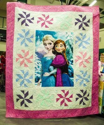 """Disney's Frozen Quilt.  60 x 72""""  READY to SHIP by TheLastStitchQuilts on Etsy https://www.etsy.com/listing/215924102/disneys-frozen-quilt-60-x-72-ready-to"""