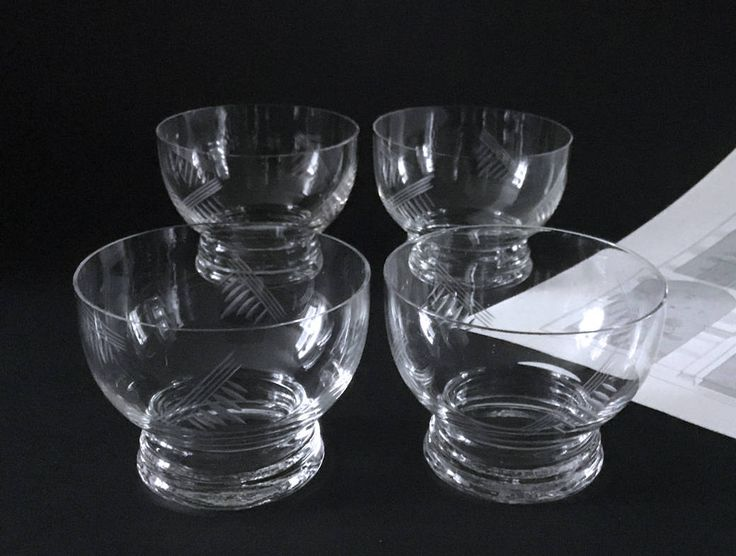 Punch glass 1950s, 4 Antique French glasses, engraved glasses, Retro Mid Century Modern Champagne Glasses, Cocktail Glass, Punch Glasses by frenchvintagebazaar on Etsy