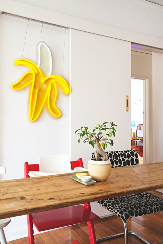 House Tour: An Electric Neon Melbourne Home   Apartment Therapy