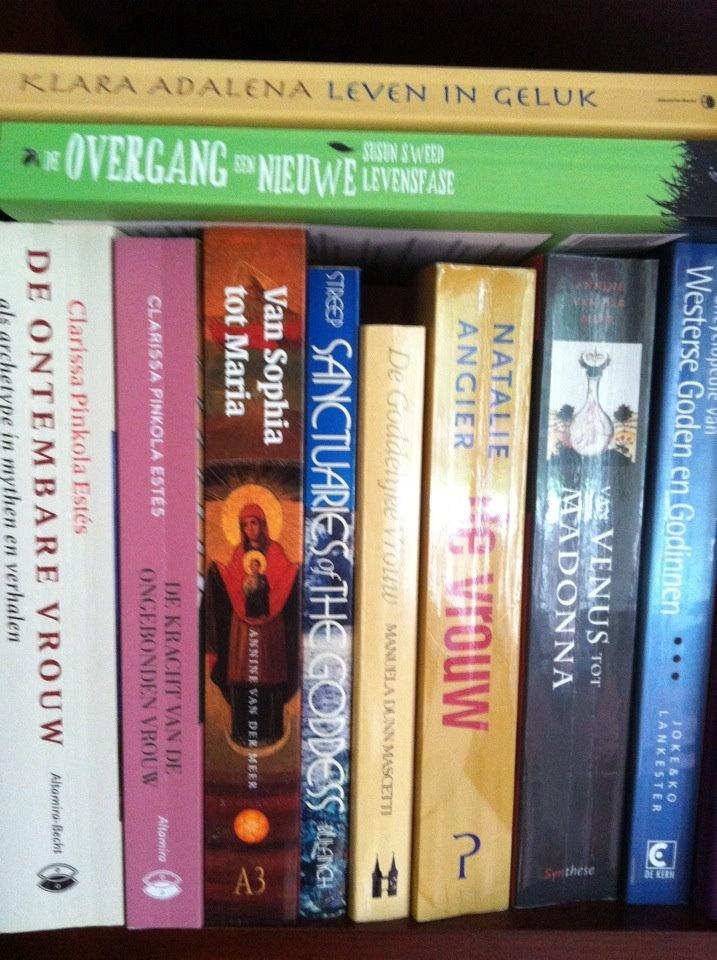 In de boekenkast van Corrine Baard