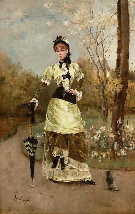 Alfred Stevens (1823-1906) - La Parisienne                                                                                                                                                                                 Plus