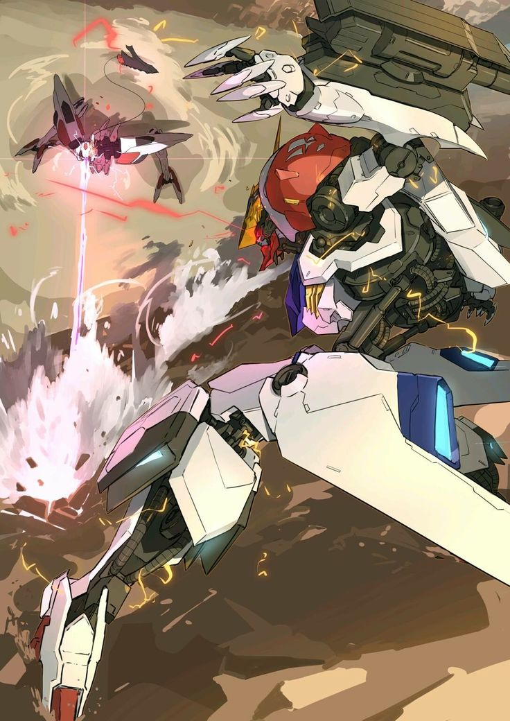 Barbatos vs Mobile Armor