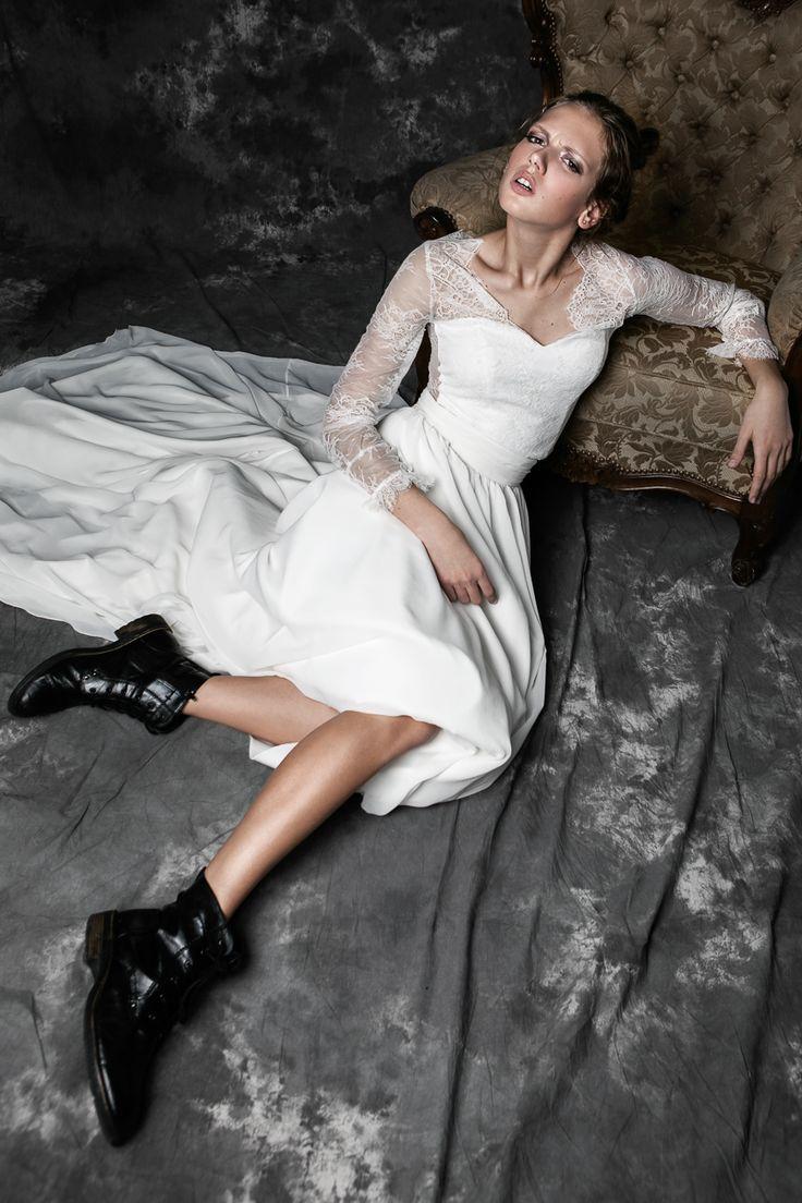 Pureza Mello Breyner Atelier - for the rock n roll bride! #bride #modern #lace #cotton #silk #romantic #bridal #dress #designer #satin #handmade #by #measure #wedding #boho  #wedding #crepe #french