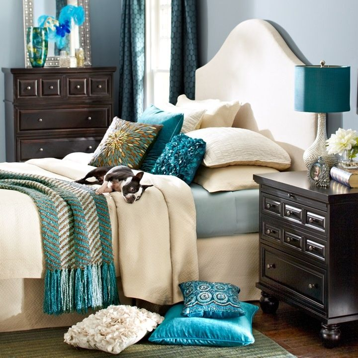 teal bedroom ideas | Bedroom, Teal Bedrooms Girl: Designing Rich And Glamour Teal Bedrooms
