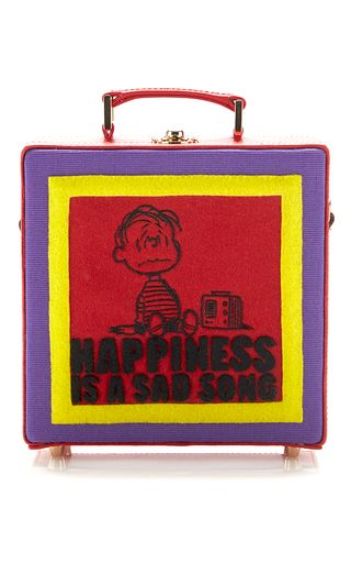 Happiness Is A Sad Song Square Bag by OLYMPIA LE-TAN for Preorder on Moda Operandi