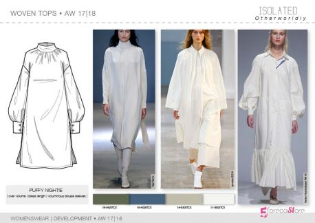 FW 2017-18 - Development - WOVEN TOPS: puffy nightie