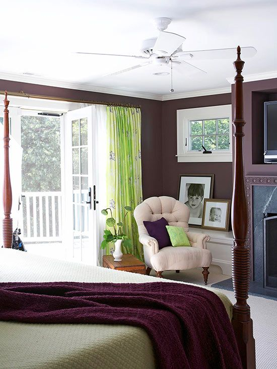 purple paint in bedroom purple paint colors white ceiling green accents and 16883