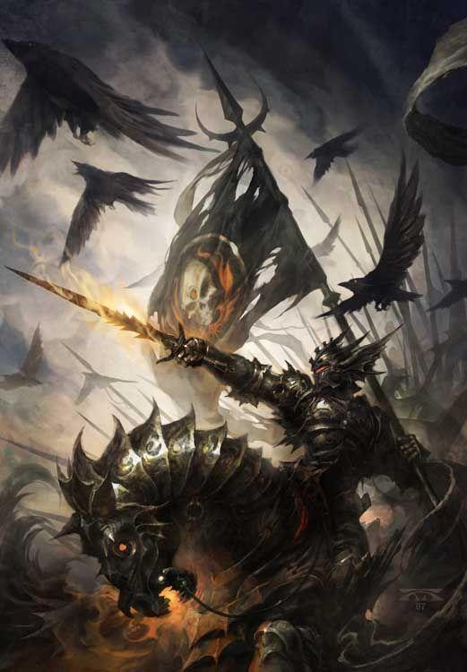 A dark knight of fantasy