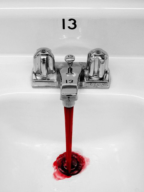 #blood This is the kind of picture where color plays a BIG role. If this was black and white it would just look like water. What is the importance of color is the real question.