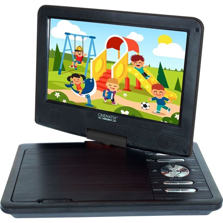 "Cinematix - 9"" Portable DVD Player - Black"