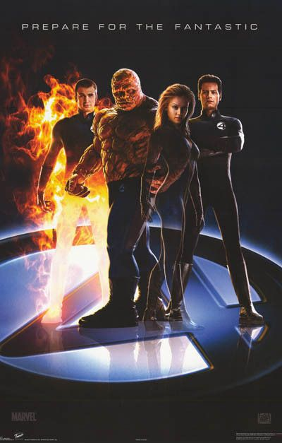 Fantastic Four Prepare Cast 2005 Marvel Comics Movie Poster 22x34