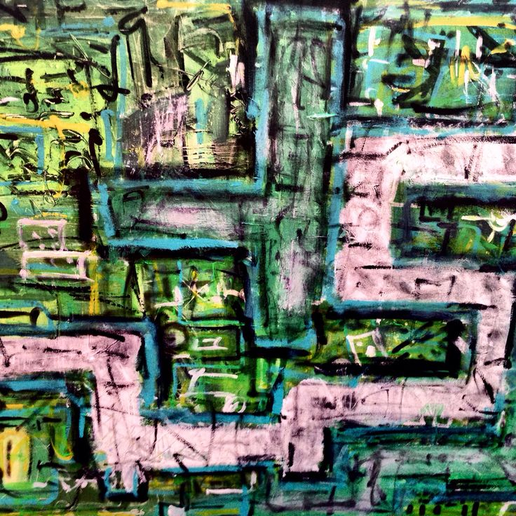 City view abstraction Acrylic 120x100 Andrez Colorblind™