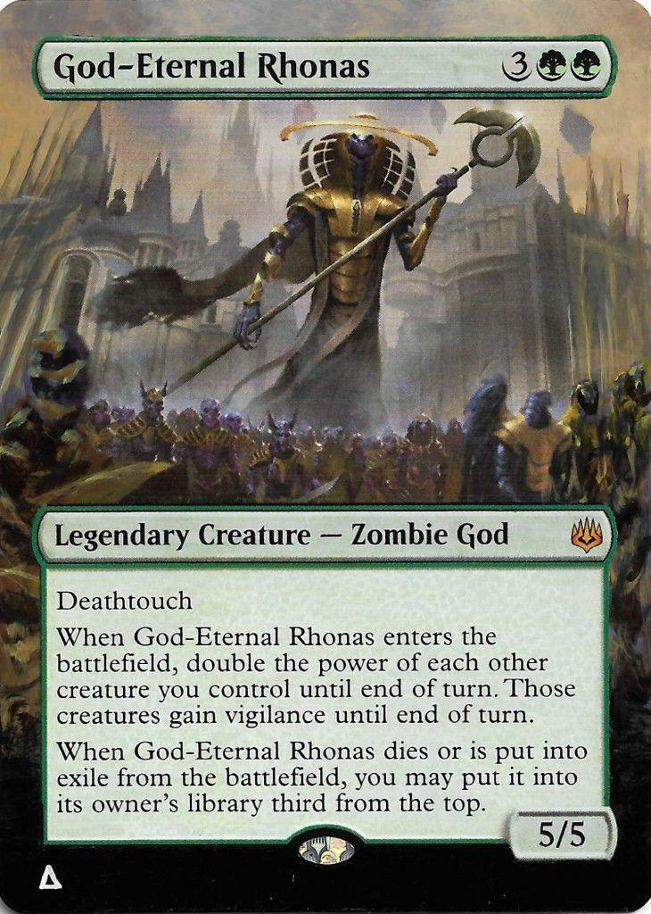 1x God-Eternal Rhonas NM-Mint English War of the Spark MTG Magic